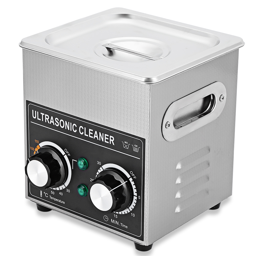 CJ - 010 Ultrasonic Cleaner 2L Cleaning Machine Ultrasonic Cleaner Bath with Heater Timer Cleaning Jewelry Glasses 2l ultrasonic cleaner heater power adjustable for contact lens jewelry rings dental eyeglasses pcb cleaning machine transducer