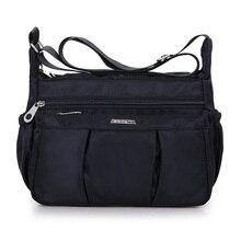купить Large Feminina Bolsa Women Nylon Handbag Female Luxury Messenger Bags Travel Casual Toto Shoulder Bag Ladies Crossbody Bag Big дешево
