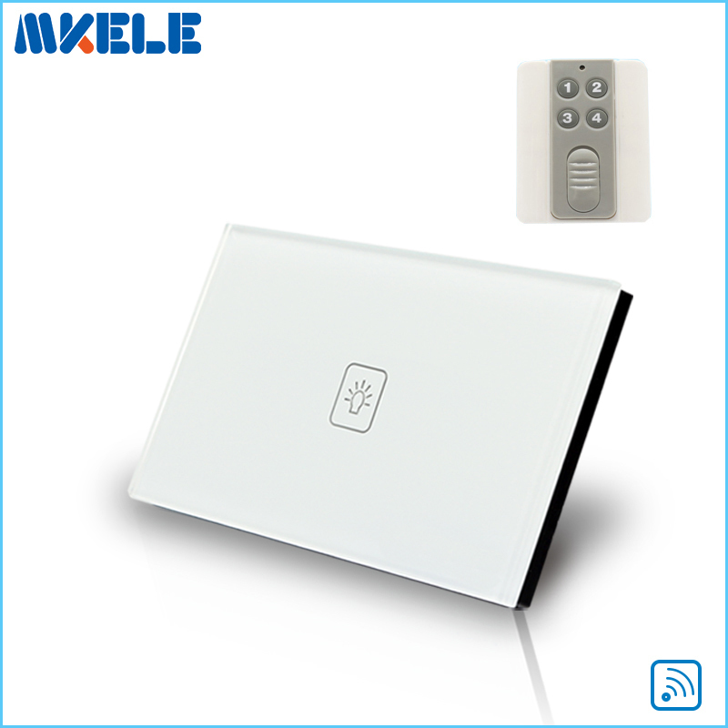 Touch Wall Switch US Standard 1 Gang 1way RF Remote Control Light Crystal Glass Panel China High Quality new arrivals remote touch wall switch uk standard 1 gang 1way rf control light crystal glass panel china