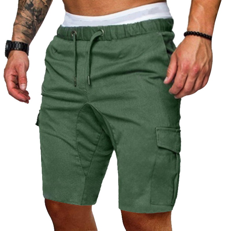 MJARTORIA Shorts Pants Trousers Work Elastic Solid-Pockets Male Plus-Size Cotton Casual