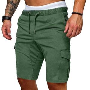 MJARTORIA Shorts Pants Trousers Elastic Solid-Pockets Male Plus-Size Cotton Casual Work