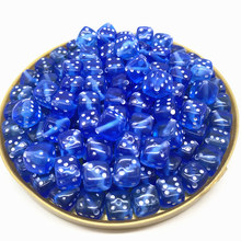 New 30PCS/Lot 6 Sided Portable Drinking Dice 8MM Acrylic Round Corner Board Game Dice Party Gambling Game Cubes Digital Dices#11