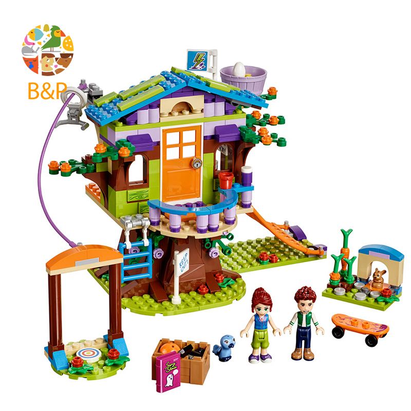 lepin 393pcs Legoing Friends Series The Mia's Tree House Building block Brick Toys For Children Birthday Toys compatible 41335