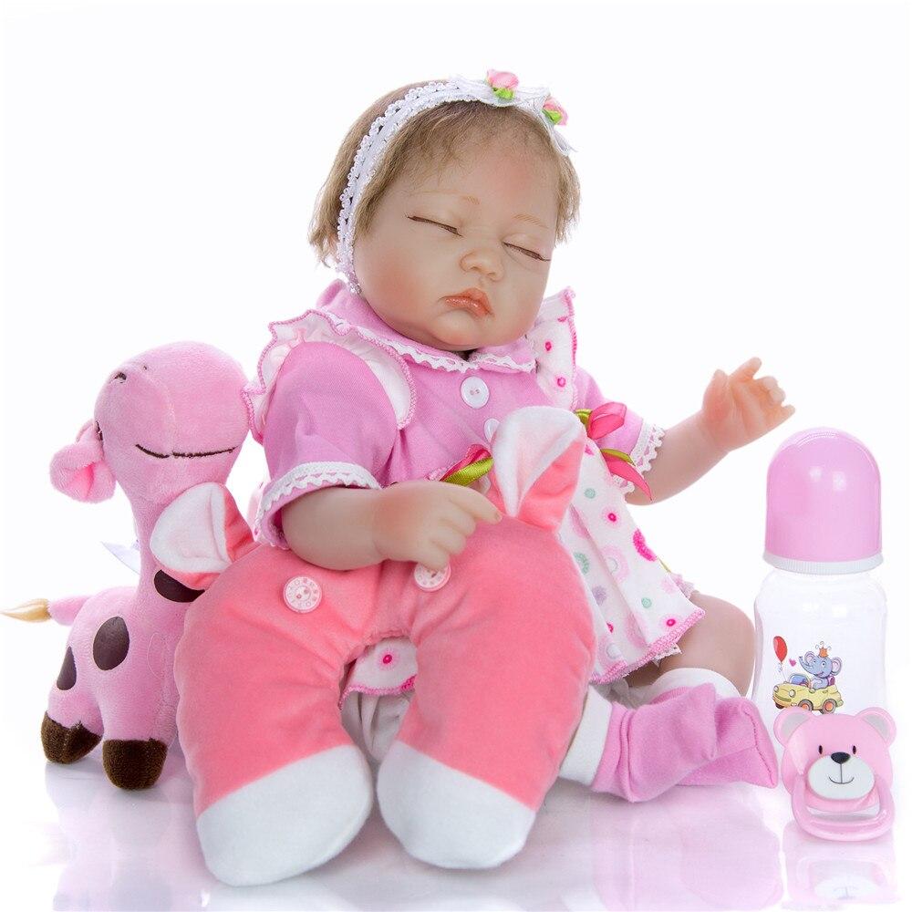 43CM Reborn bébé poupée réaliste Silicone souple reborn bebes bonecas realista enfants cadeau nouveau-né poupées jouets