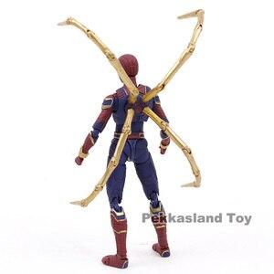 Image 4 - SHF wojna w nieskończoności Avengers żelazny pająk Spiderman PVC figurka Model kolekcjonerski