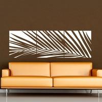 Huge White Palm Tree Wall Decal Vinyl Sticker Custom Any Colour Big Leaves Wall Art Mural