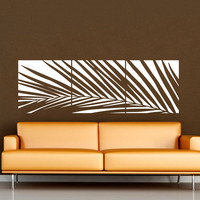 Huge White Palm Tree Wall Decal Vinyl Sticker Custom Any Colour Big Leaves Wall Art Mural