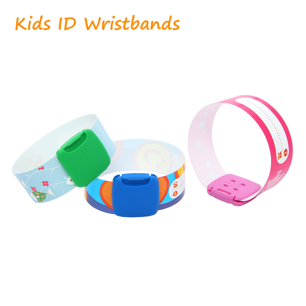 New Children Reuseable Identity Wristband Kids Sos Id