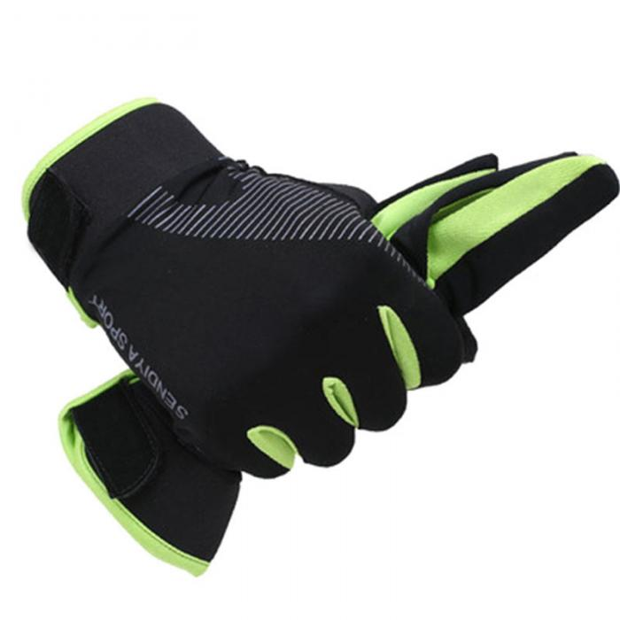 Outdoor Running Gloves Full Finger Touchscreen Cycling Gloves (7)