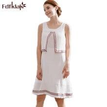 a9ff6d76fe541b0 Fdfklak 2018 Новый Дизайн белый Беременность одежда лето Грудное  вскармливание платье для беременных Для женщин Хлопок материнст.