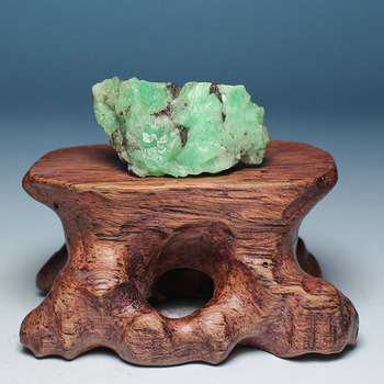 Ultra-fine mineral crystals emerald green natural rough stones mark LuoShi collectibles ore samples without optimization