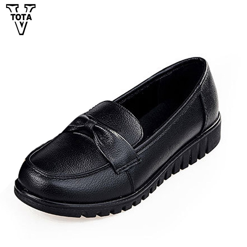 VTOTA Women Shoes Genuine Leather Spring Autumn Female Shoes Casual Handmade Zapatillas Mujer Shoes Woman Soft Comfortable Flat 2017 spring genuine leather sheepskin shoes womens black white comfortable woman flat boat shoes buckle strap zapatos mujer 002k