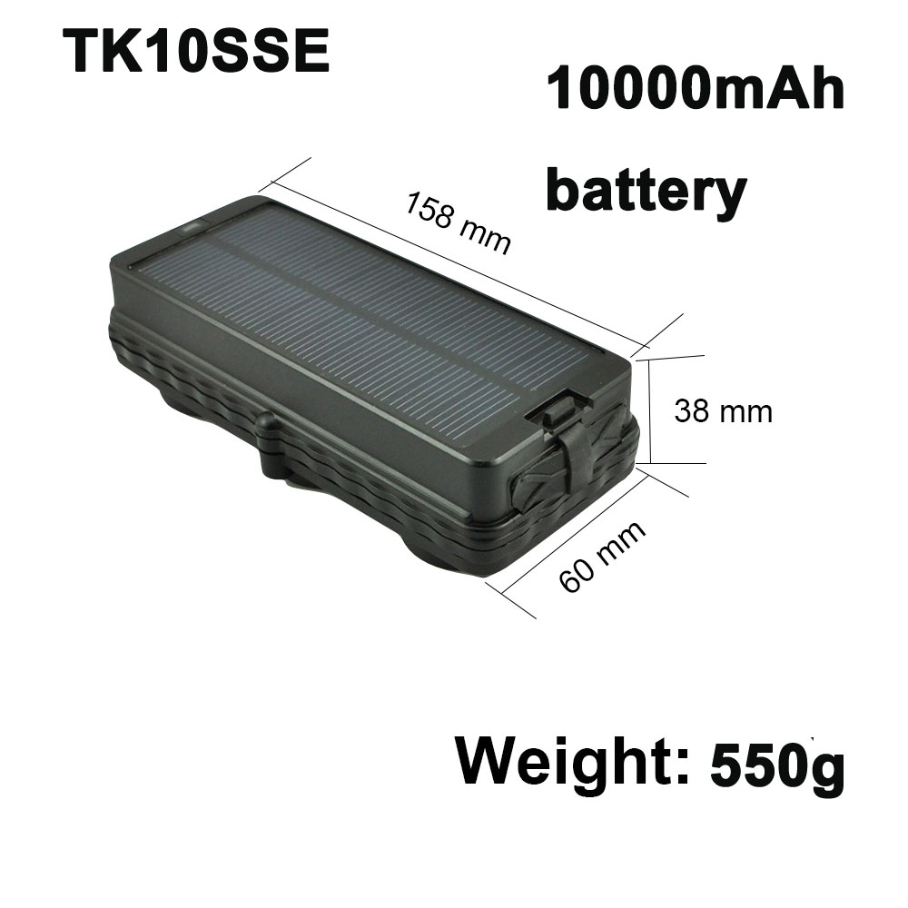 Motorcycle Electronics Tk10sse Solar Car Gps Tracker With 10000mah Battery Life Anti Theft Drop Alarm Tracker Car Gsm Gps Trackers Shrink-Proof