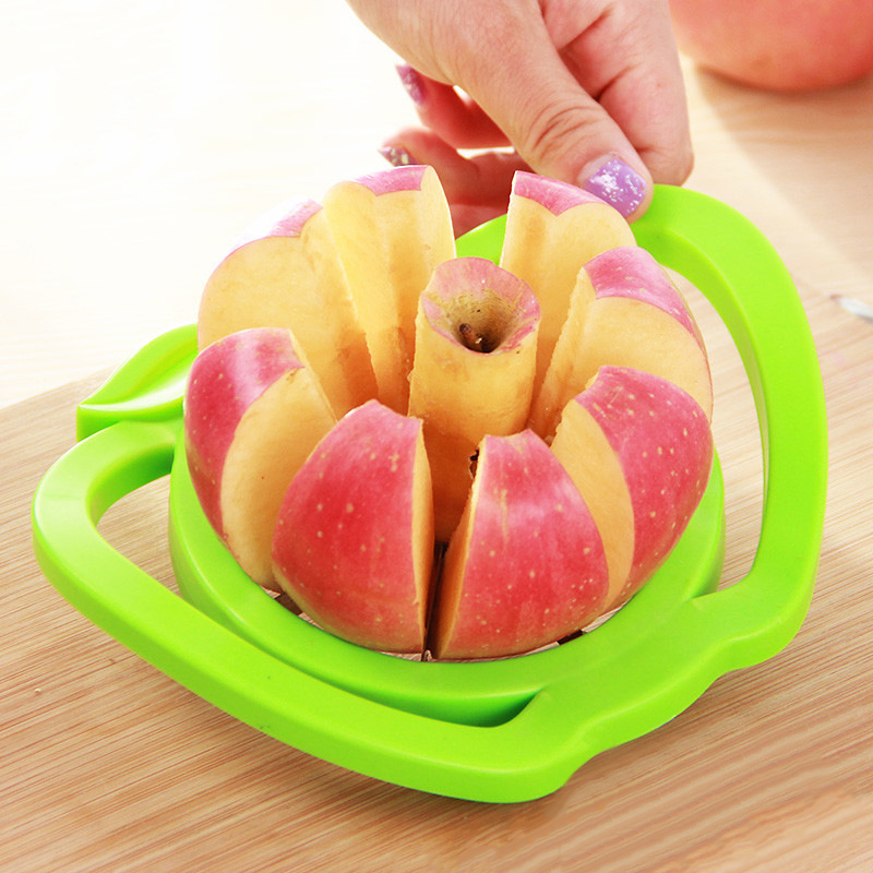 2019 Baru Dapur Membantu Apple Slicer Cutter Pear Buah Alat Pembagi Comfort Handle untuk Dapur Apple Peeler title=