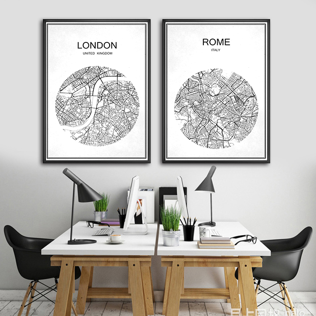 Online Shop OTTAWA Canada Abstract World City Street Map Print Poster Coated Paper Cafe Bar Living Room Home Decoration Wall Sticker 42x30cm