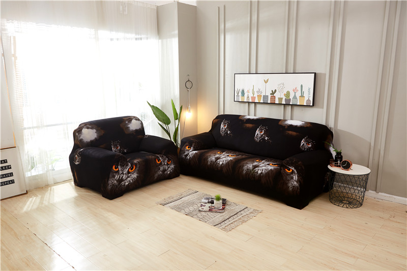 Stretchable Sofa Cover with Elastic for Sectional Couch Protects Sofa from Stains Damage and Dust 13
