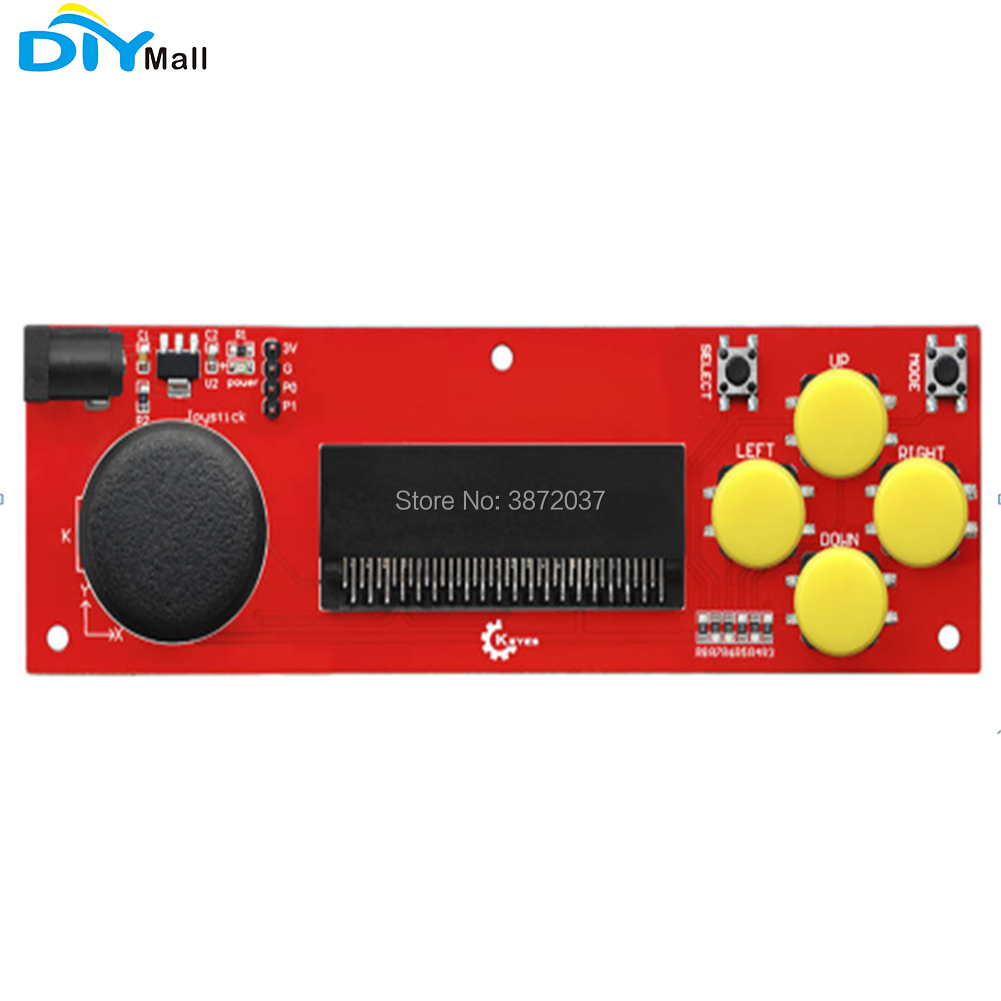 DIYmall Gamepad Shield Wireless Joystick Remote Control Extension Board Red And Eco-friendly For Micro:bit For Keyes