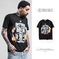 High Quality New European American Man Dark Jesus Christian Printed Men Short Sleeve T-shirt Spring Summer Tide Brand T Shirt