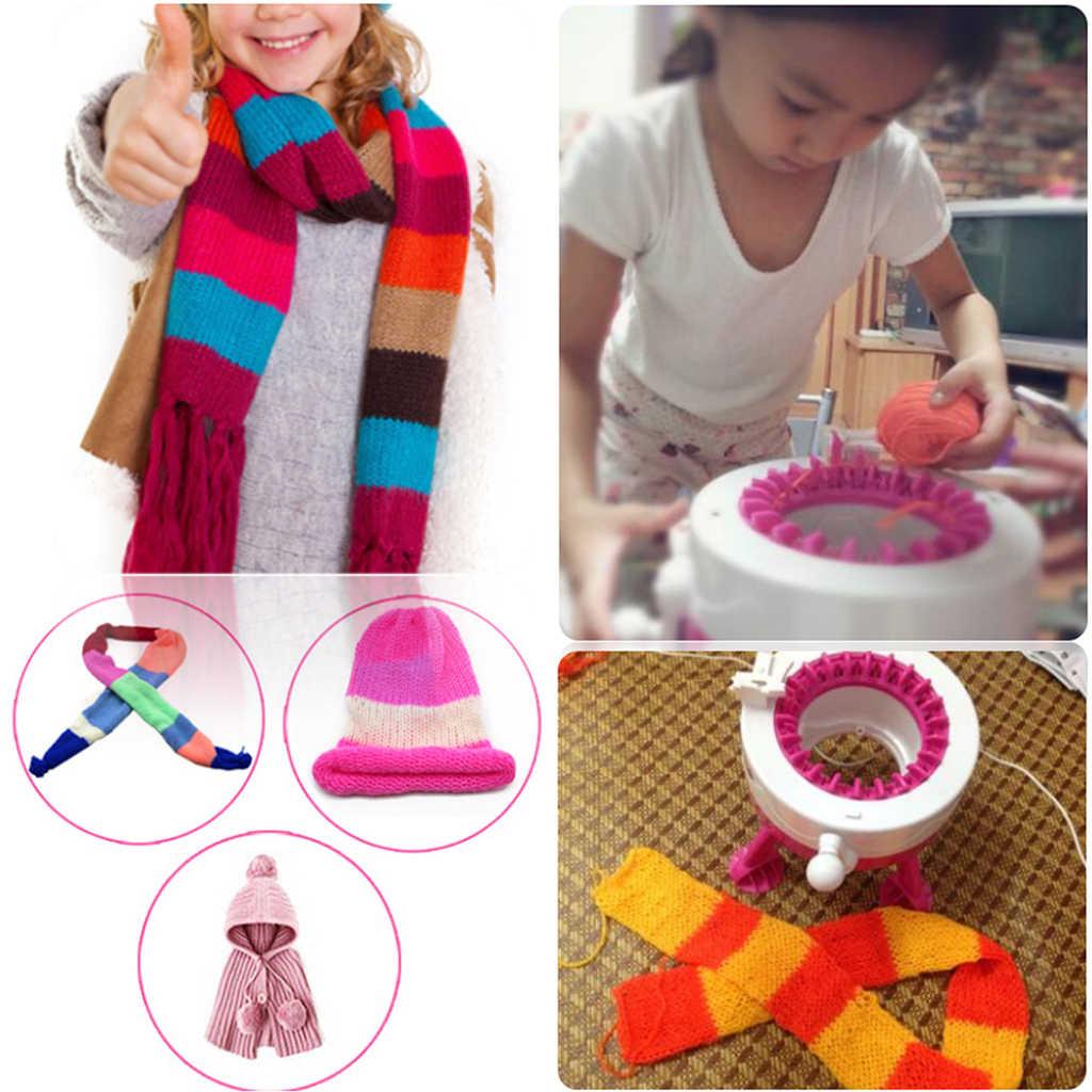 Anak-anak 38-Pin Besar Mesin Rajut Peer-To-Peer Weaver-DIY Hands-On Tenun Syal Hat Kaus Kaki Berpura-pura Bermain permainan Perkembangan Mainan