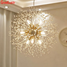 цена на Modern Dandelion Chandeliers Lighting for Bedroom Kitchen Wrought Iron Ceiling Chandelier Acrylic Firework Pendant Hanging Lamp