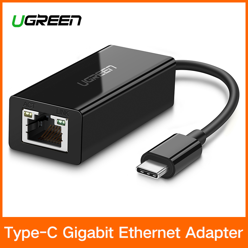 Ugreen USB C Ethernet USB-C a RJ45 Lan para MacBook Pro Samsung Galaxy S9/S8/nota 9 tipo C USB tarjeta de red Ethernet