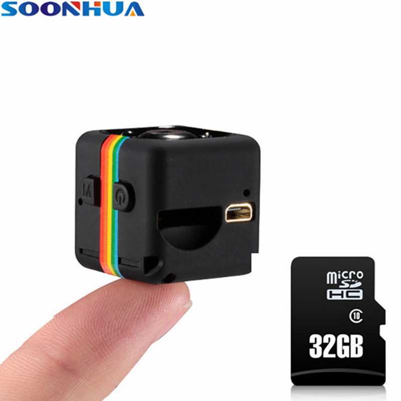 SOONHUA SQ11 Mini Camera HD 1080P Night Vision Camcorder Car DVR Infrared Video Recorder Sport Digital Camera TF Card 32GB/16GB