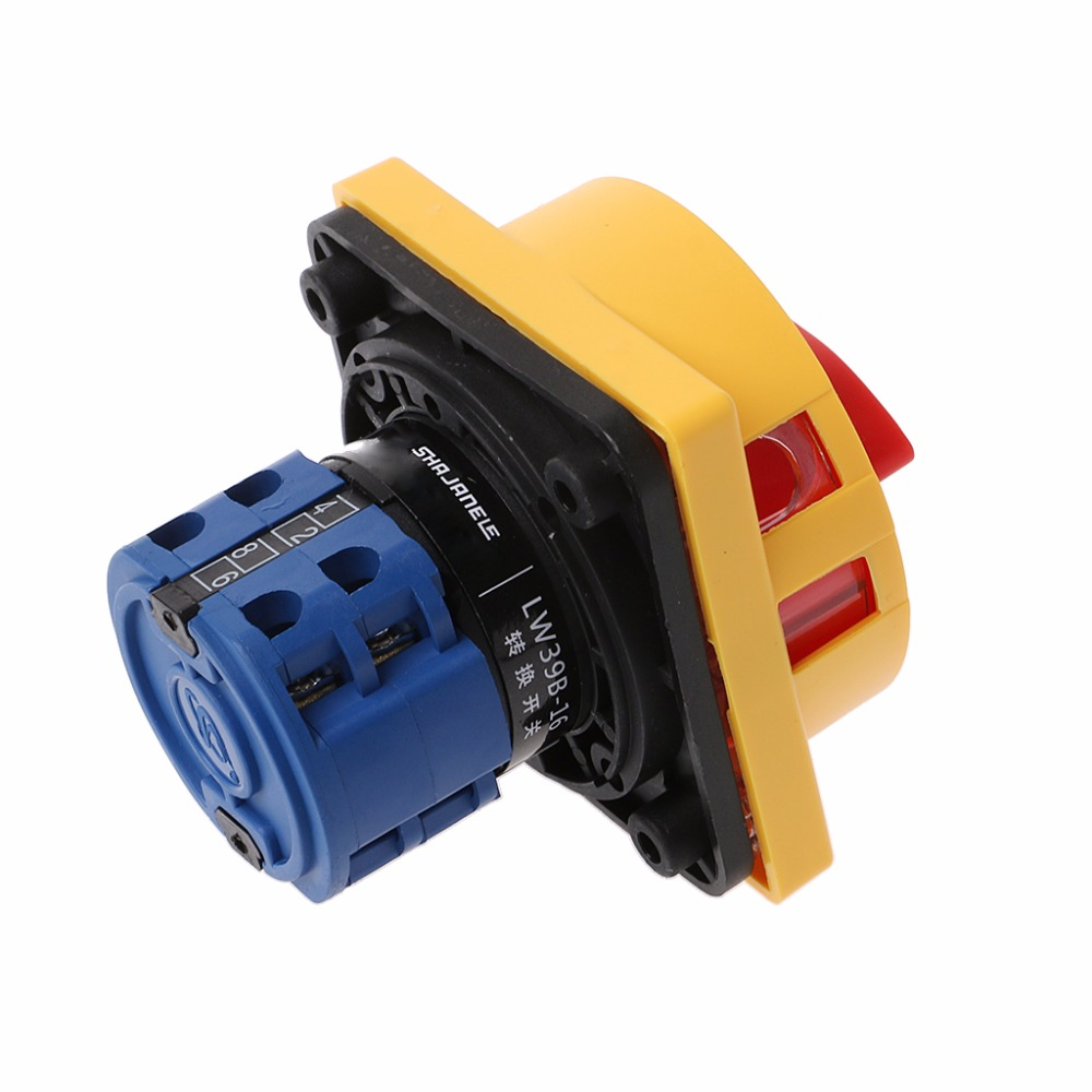 New Lw26 20gs 20 04 2 Padlock Rotary Cam Switch Off On Way 4pole 8 Yellow Wire Screw Terminals Drop Shipping Support In Switches From Lights Lighting