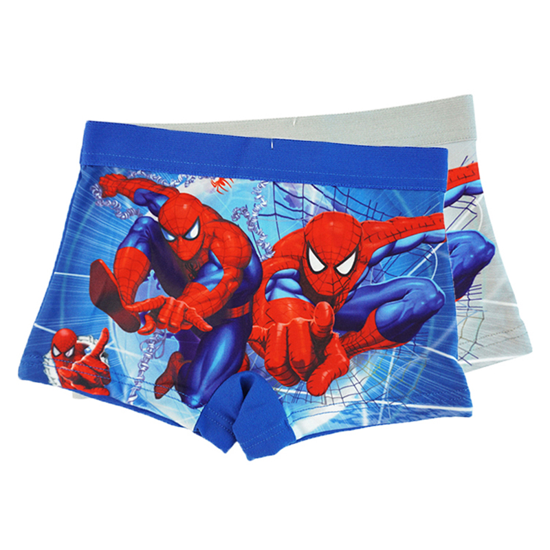 12pcs Lot Underwear Kids Boys Baby Soft Underpants Cartoon Spiderman Boxer Briefs Fashion Children Milk Silk Panties Boy Shorts