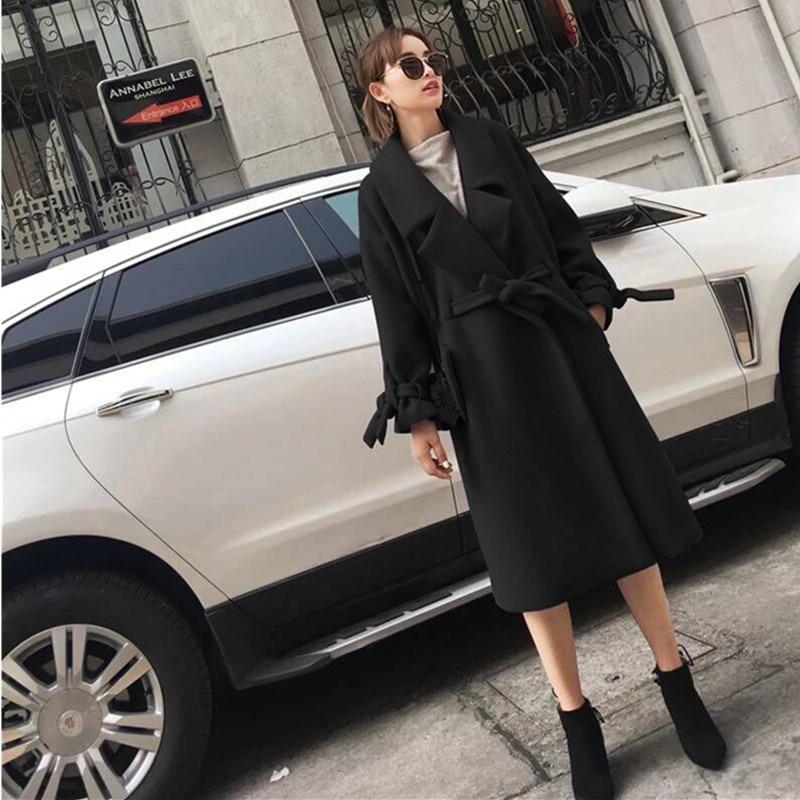 Section Longues De style Hiver À Red Cocon Tan Mode light Slim Manteau Longue Laine 2017 Survêtement Yagenz Manches black Spliced Confortable Femmes A123 gfZqIIv