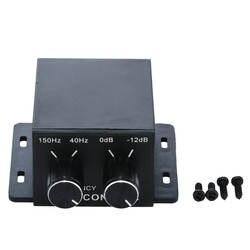 Универсальный автомобильный усилитель бас контроллер 150 Гц-40 Гц автомобили AMP 4 Позолоченные RCA усиления уровня громкости эквалайзер + 4 шт