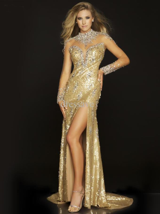 Sexy golden gowns