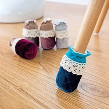 4 Pcs/Set Creative Cute Cloth Round Chair Leg Protector Sofa Table Foot Socks Mat Non-Skid Furniture Foot Sleeve Covers ZHH1063