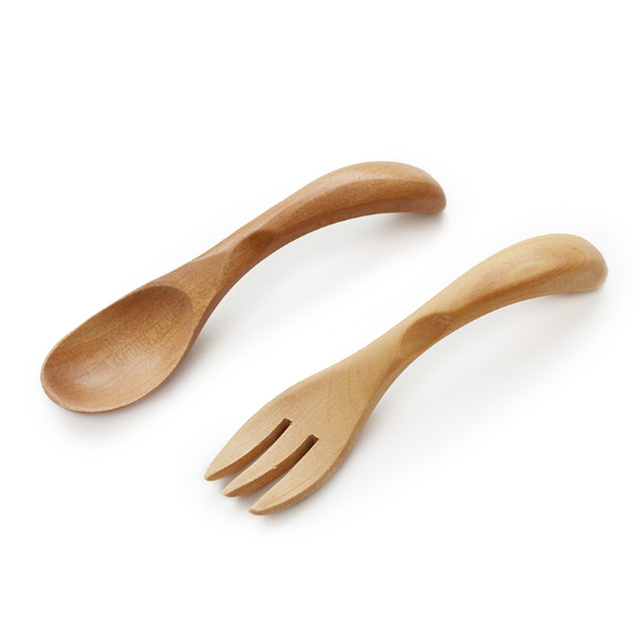 Natural Wood Tableware Spoon Fork Handmade Eco-friendly Wooden Dinnerware Set For Baby Kids  sc 1 st  AliExpress.com : wooden dinnerware sets - pezcame.com