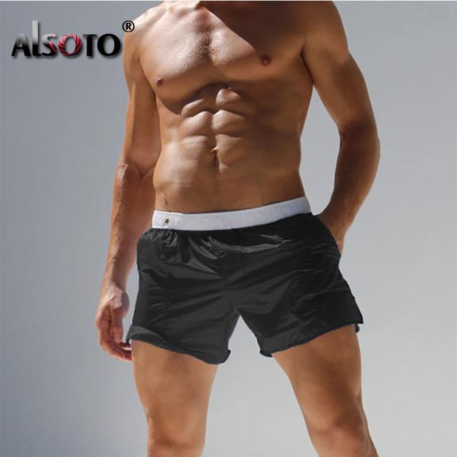 Summer 2018 New Man Beach swimsuit casual trunks sexy briefs plus size swimwear boxers mayo badpak maillot de bain