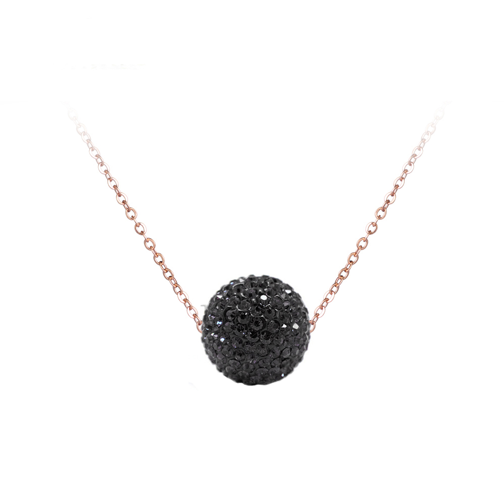Necklaces & Pendants Lokaer Trendy Clay Crystals Disco Ball Pendant Necklaces For Women Girls Stainless Steel Chain Rose Gold Color Jewelry Gsne1 Chain Necklaces