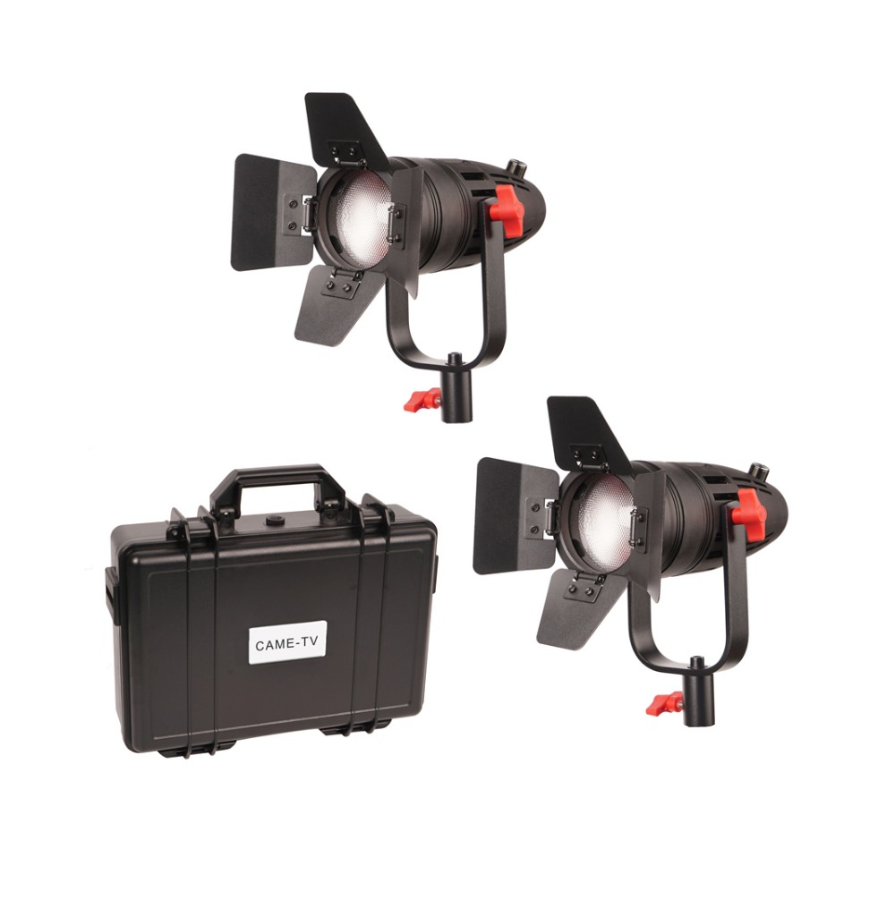 2 Pcs CAME TV Boltzen 30w Fresnel Fanless Focusable Led Daylight-in Photo Studio Accessories from Consumer Electronics