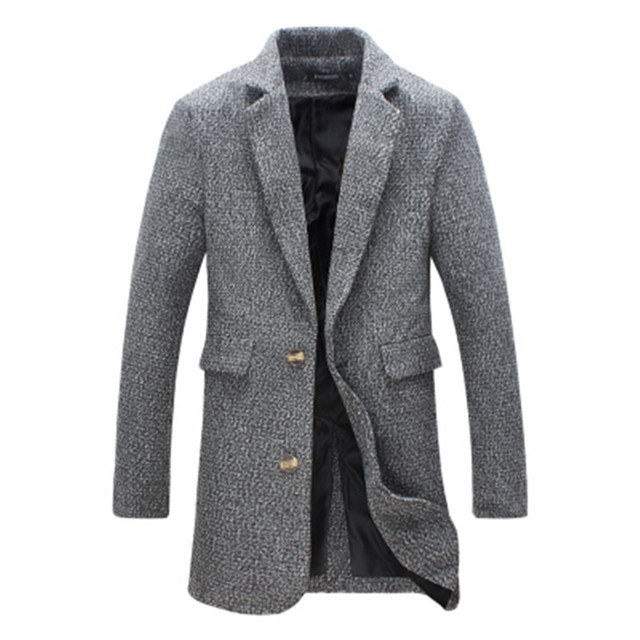 2016 Otoño nuevos hombres de la chaqueta cazadora larga sección de hombres business casual hombres de color sólido de la solapa delgada capa de gran tamaño marea