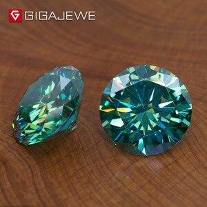 Image 3 - Камни GIGAJEWE с муассанитом карат, круглый темно зеленый лабораторный бриллиантовый камень для самостоятельного изготовления ювелирных изделий, подарок для девушки