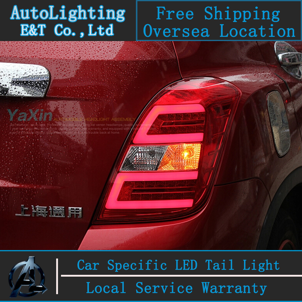 Car Styling LED Tail Lamp for Chevrolet Trax tail lights Tracker led tail light rear trunk lamp cover drl+signal+brake+reverse car rear trunk security shield cargo cover for volkswagen vw tiguan 2016 2017 2018 high qualit black beige auto accessories