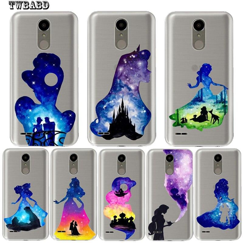 Cool Watercolor princess <font><b>Phone</b></font> case For <font><b>LG</b></font> Q6 Q8 K4 K7 K8 K10 2017 X Screen Power 2 G4 G5 <font><b>G6</b></font> Soft silicone TPU shell for <font><b>LG</b></font> Q6