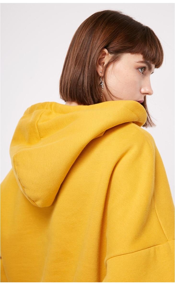ONLY Women's autumn new letter embroidery  velvet Hoodie | 11839S511 9