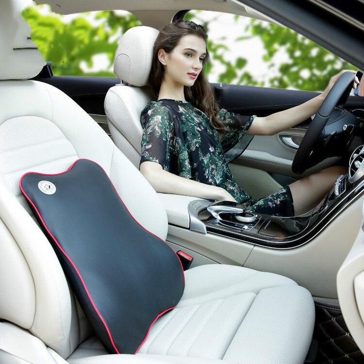 Coussin lombaire de voiture de soutien de siège de mode coussin de soutien de dos inférieur de mousse de mémoire pour le conducteur de travailleur d'ordinateur de chaise de bureau