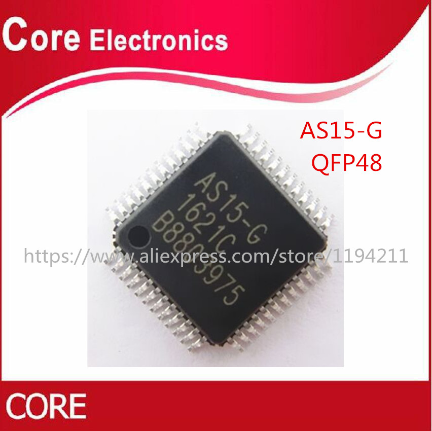 100pcs AS15 G AS15 AS15G QFP48 LCD Chip IC 100 NEW ORIGINAL