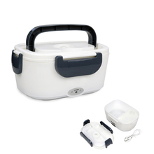 220V Portable Electric Heating Lunch Box Office School Heating Container Warmer with A Spoon for Kids Meal Prep Bento Box cp 33 heat preservation stainless steel electric heating lunch box w egg tray spoon white