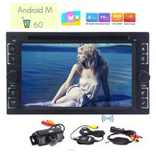 Car Stereo Android 6.0 Marshmallow in Dash 6.2 inch Car DVD CD player GPS Navigation 2 din Wifi Bluetooth + Free wireless camera
