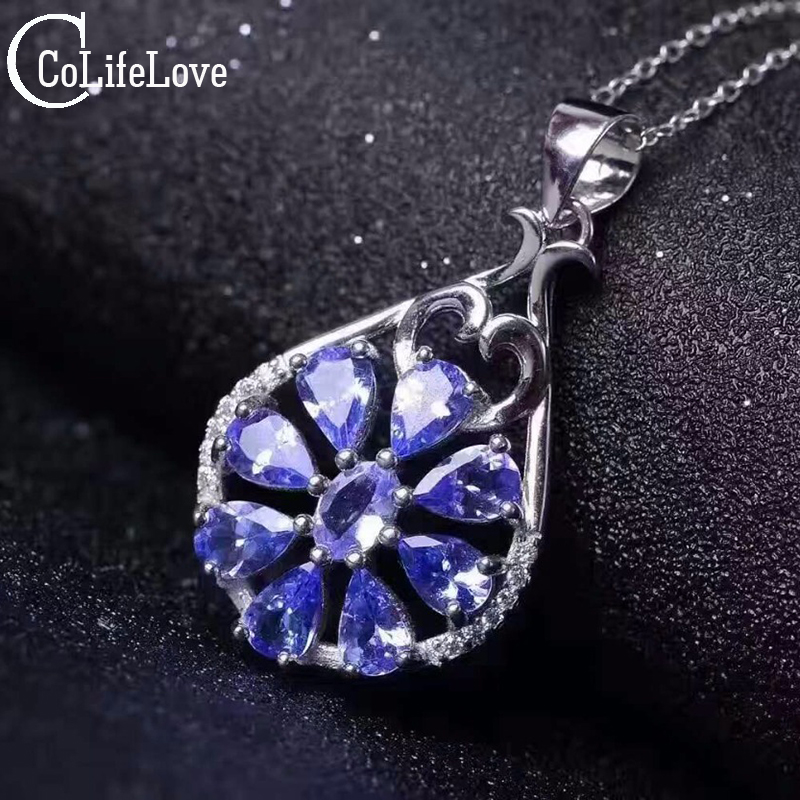 Tanzanite Buying Tanzanite: Aliexpress.com : Buy Luxurious Tanzanite Necklace Pendant