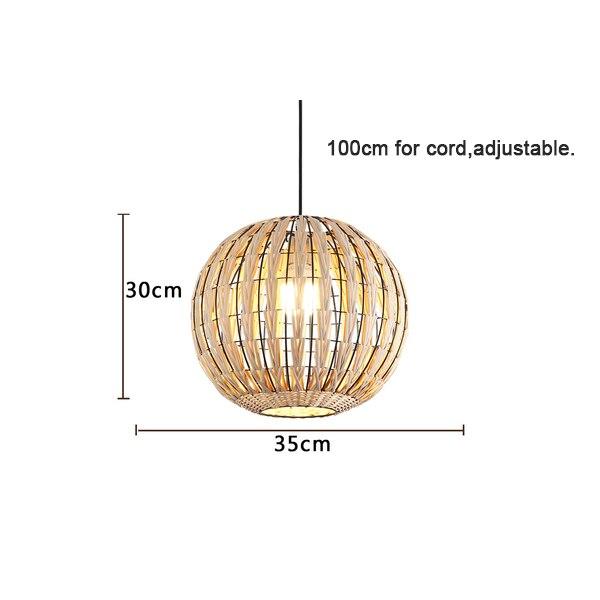 Специальная металлическая Подвесная лампа из ротанга Cany Art E27 подвесной светильник для гостиной спальни столовой внутренней декоративной лампы - Цвет корпуса: Model B D35xH30