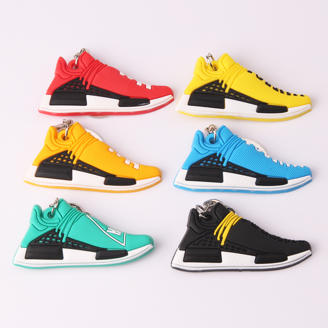 9311d235d50 New Mini Silicone PHARRELL Keychain Bag Charm Woman Key Ring Gifts Sneaker  Accessories Jordan Shoes Key Chain Porte Clef