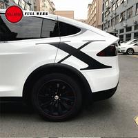 Creative Car Pull Flower Body Sticker Cover Decoration Letter X for Tesla Model X Exterior Accessories 1 Pair