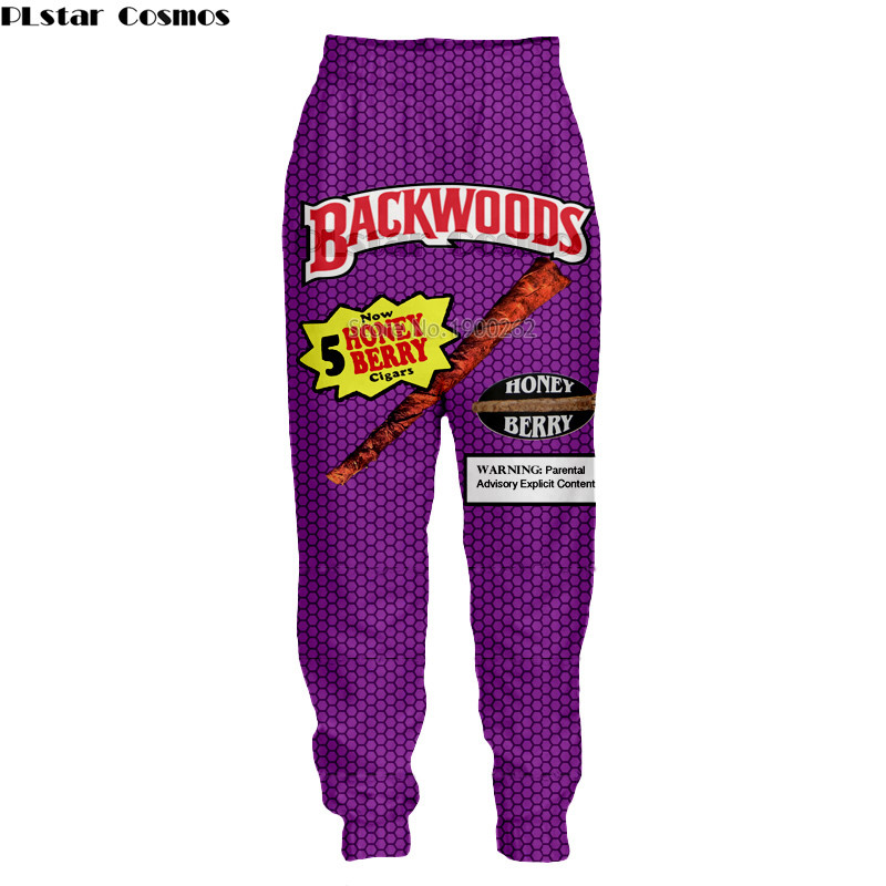 PLstar Cosmos Backwoods Honey Berry Blunts Unisex Man pants Funny Food 3D  Print pant Plus Size Tracksuit